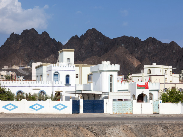 Residential area of Muscat, Oman