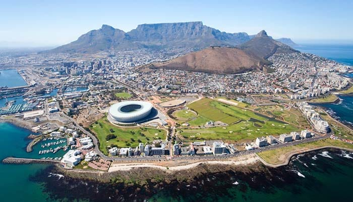 Airial view of Cape Town - South Africa